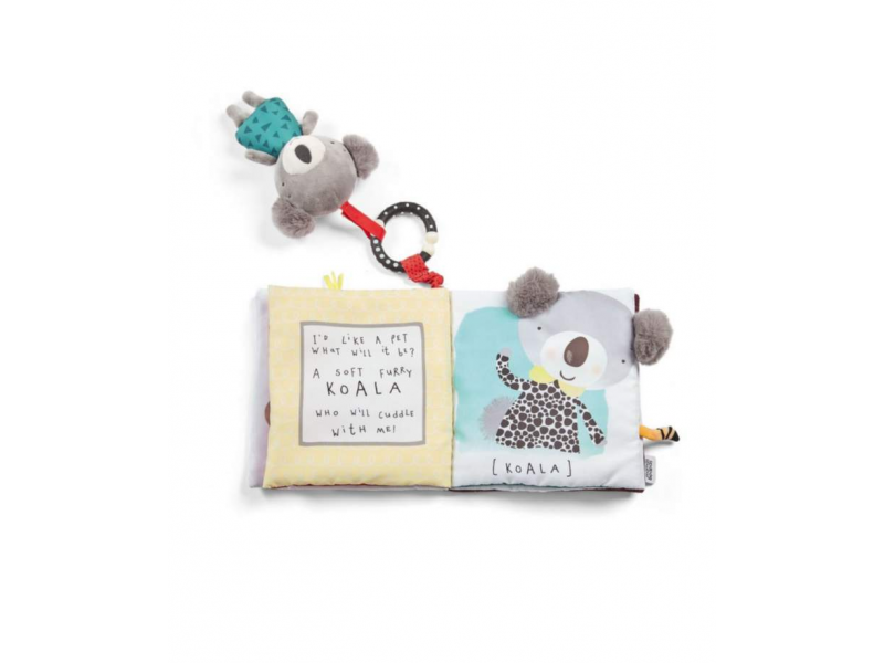 Textilní knížka s aktivitami koala Koko