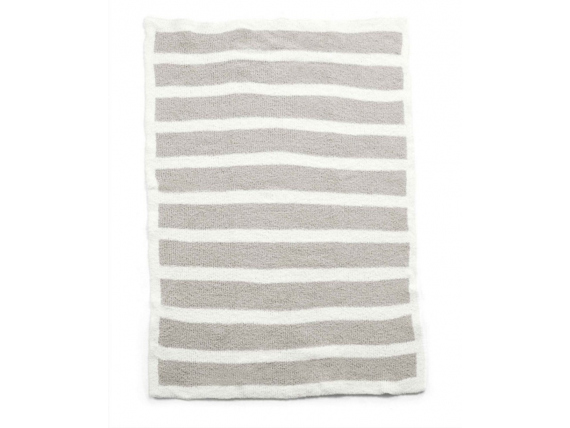 Pletená deka ženilka šedá