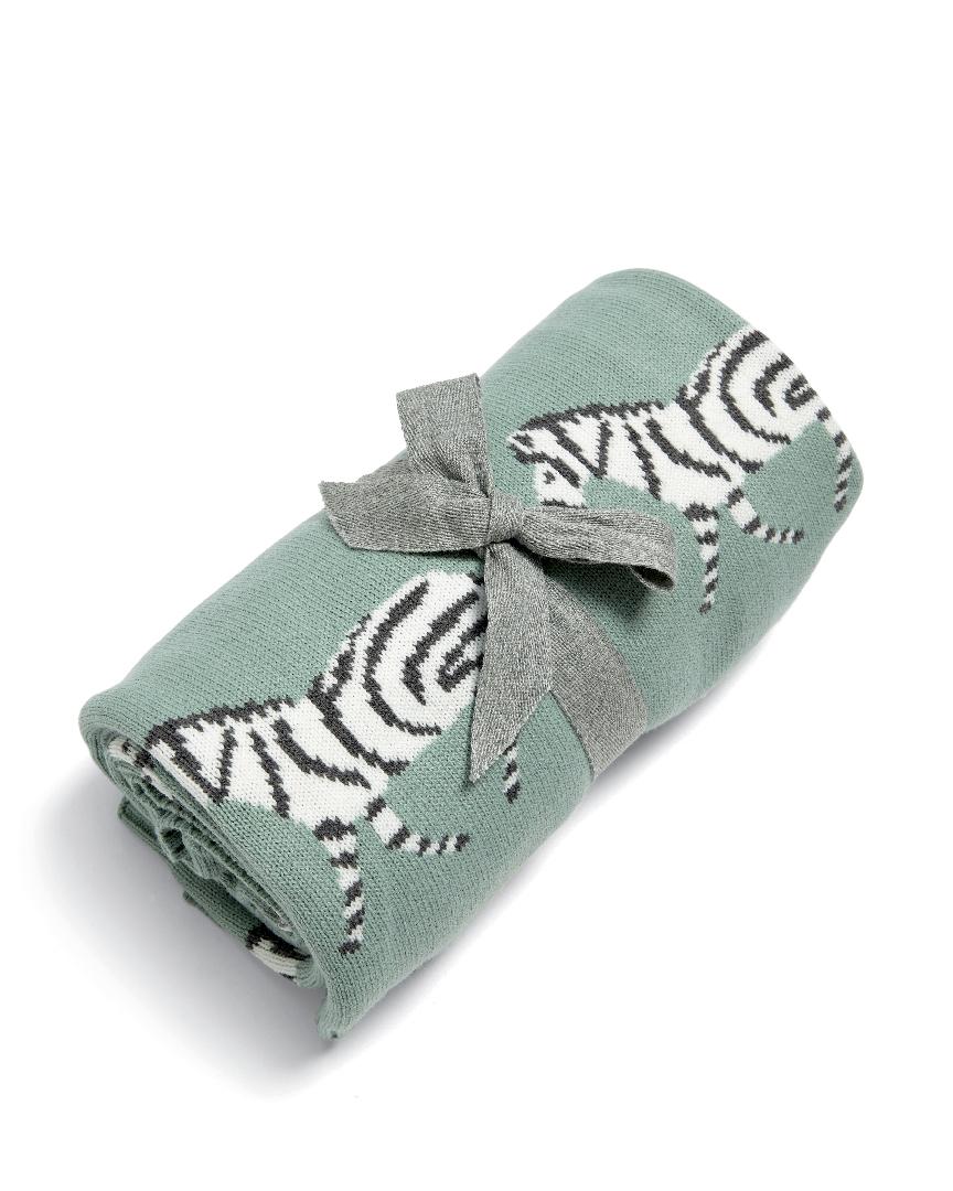 Pletená deka Zebra