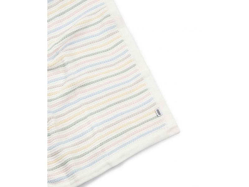 Mamas & Papas Pletená deka pastelové proužky