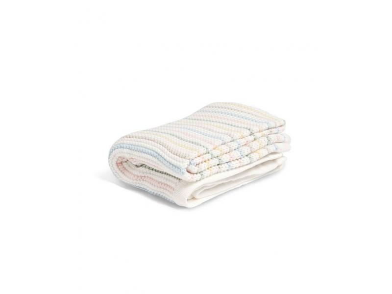 Pletená deka pastelové prúžky
