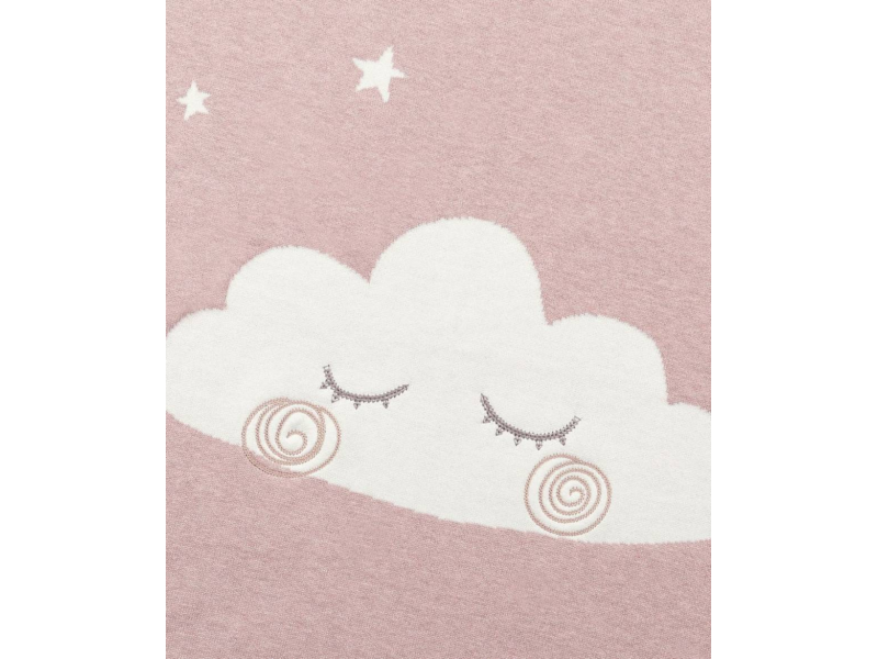 Pletená deka mráček růžová