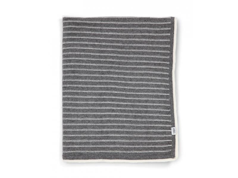 Pletená deka šedé proužky