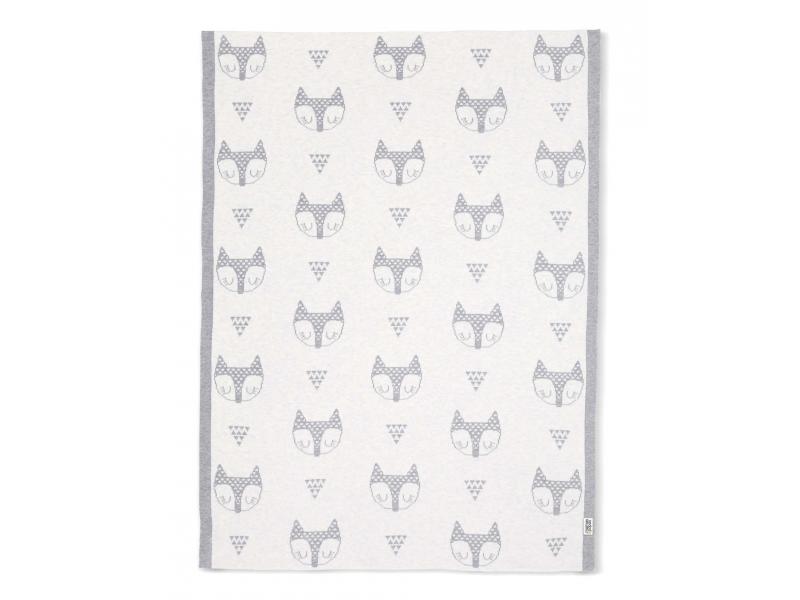 Pletená deka Líšky šedá