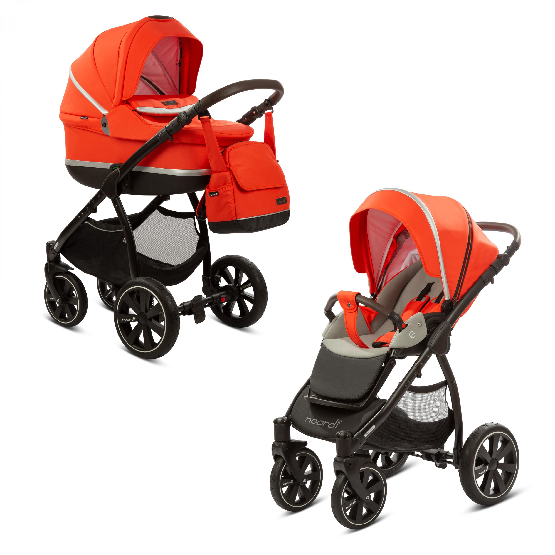 Kočárek Sole II 2v1 Orange Red