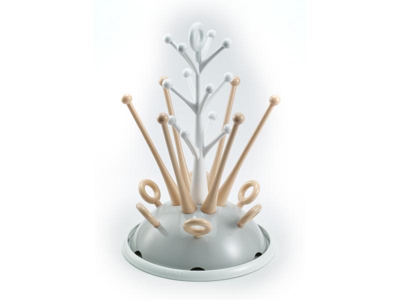 BEABA Odkapávač kojeneckých lahví šedá/růžová