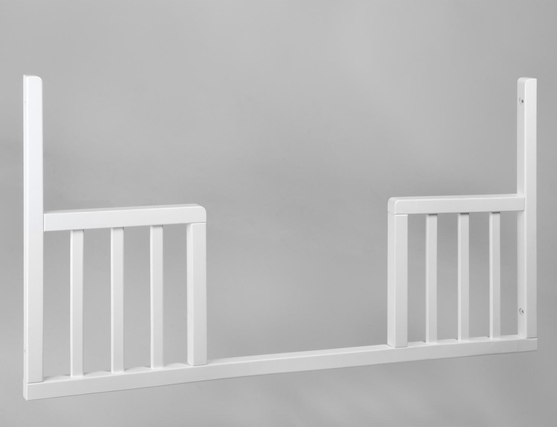 Univerzální výměnný bok do postýlek NICOLE, LOFT, DE LUX 120x60cm bílý