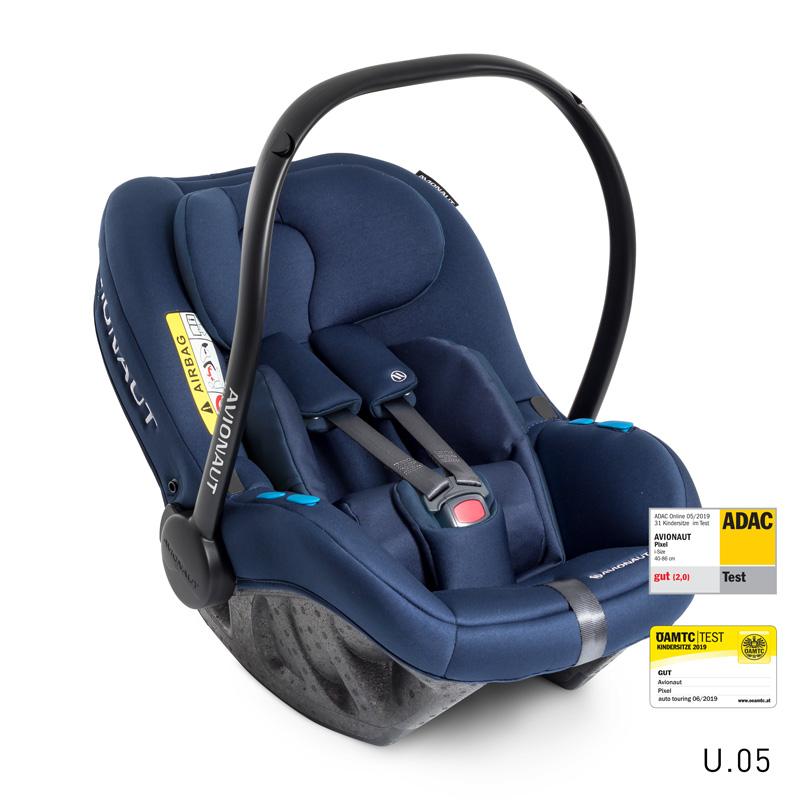 Autosedačka PIXEL (45-86cm, 0-13kg) 2020 modrá