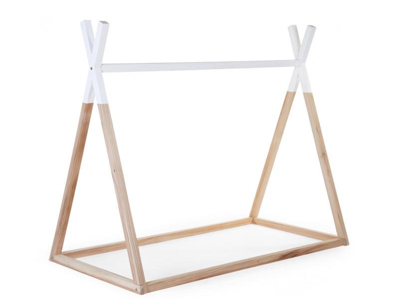 Childhome Postel Tipi stan konstrukce Natural White 70x140cm