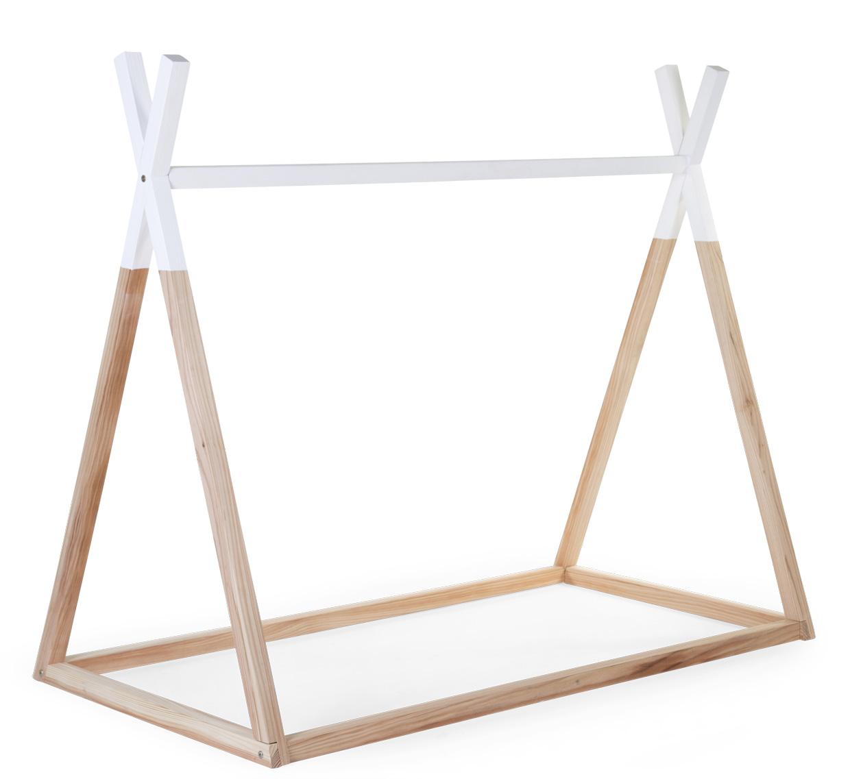 Posteľ Tipi stan konštrukciaNatural White 70x140cm
