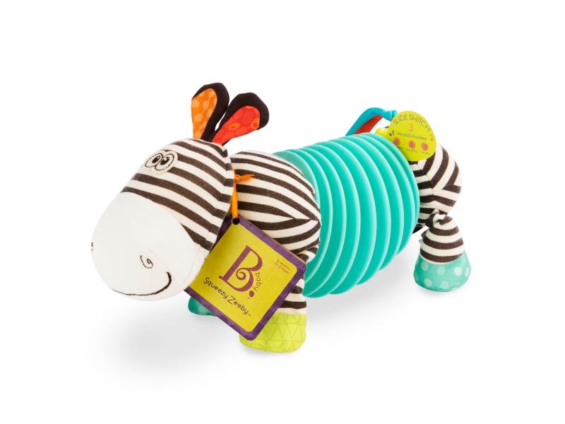 Tahací harmonika zebra Squeezy Zeeby