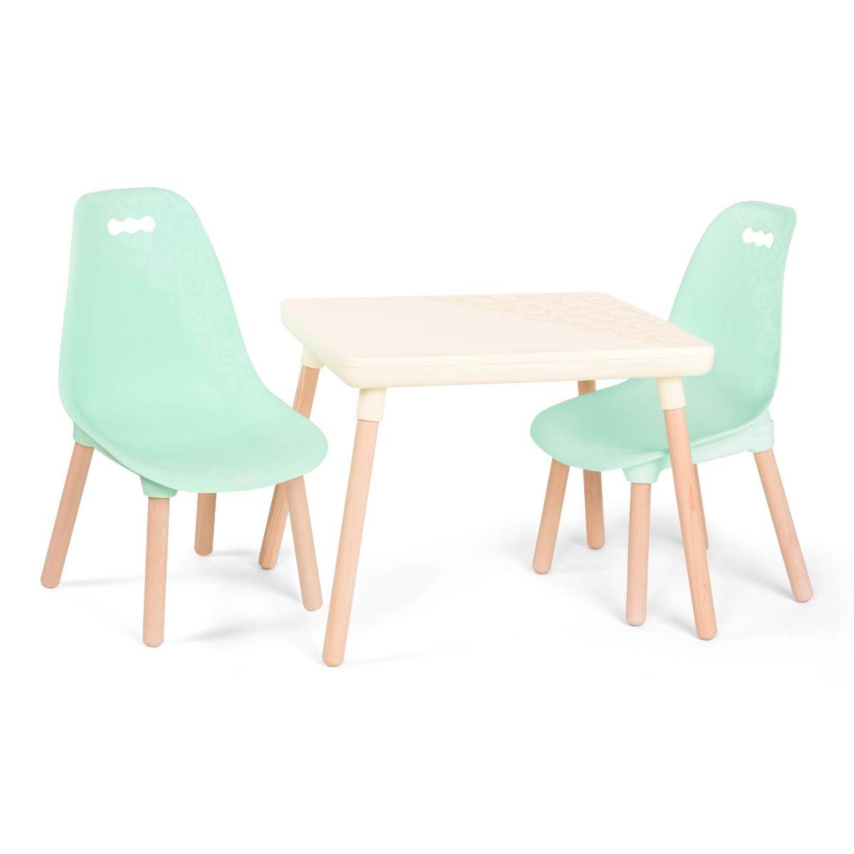 Detský stolík + 2 stoličky Mint