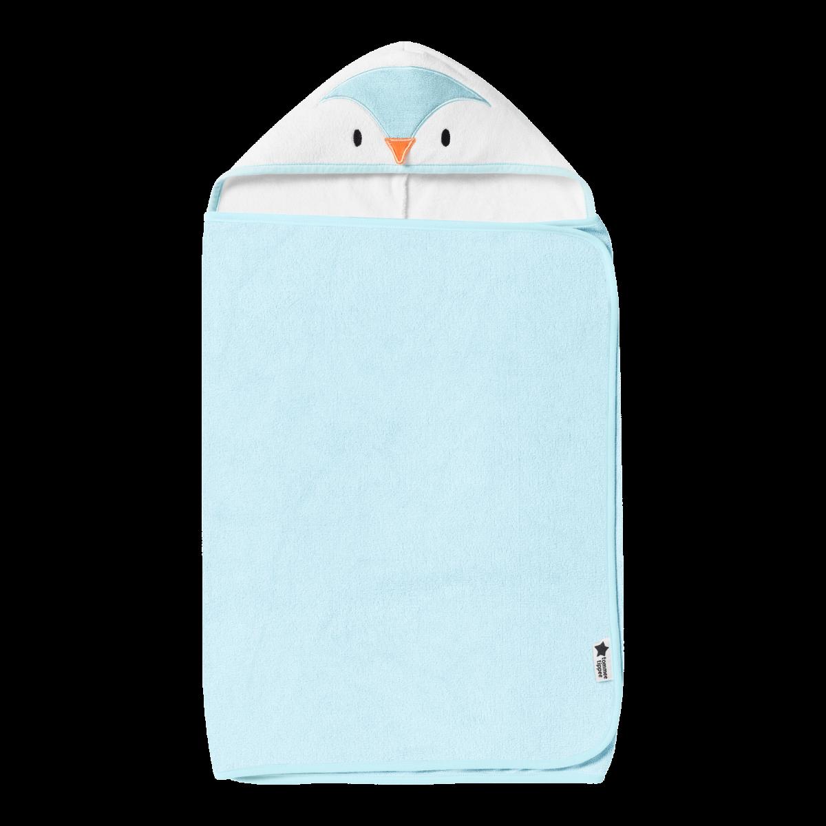 Osuška s kapucňou Hug 'n' Dry 6-48m Percy Blue