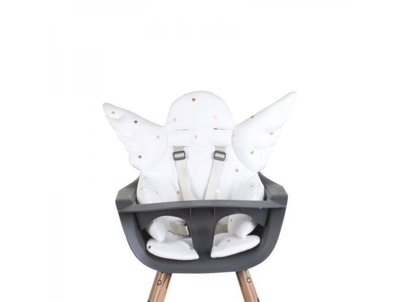 Childhome Sedací podložka do dětské židličky Angel Gold Dots