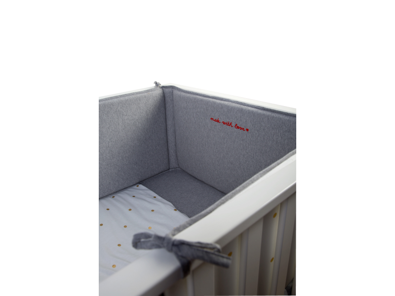 Childhome Mantinel do postýlky 35x170cm Jersey Gold Dots