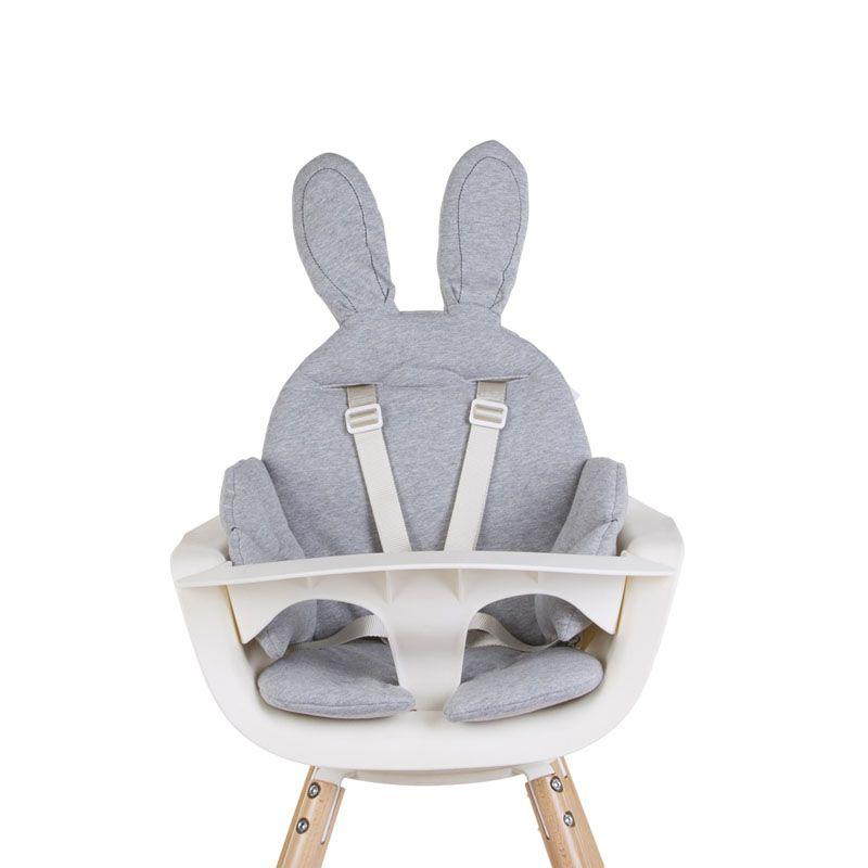 Sedací podložka do dětské židličky Rabbit Jersey Grey