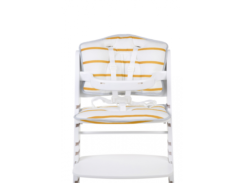 Childhome Sedací polštářky do rostoucí židličky Jersey Ochre Stripes