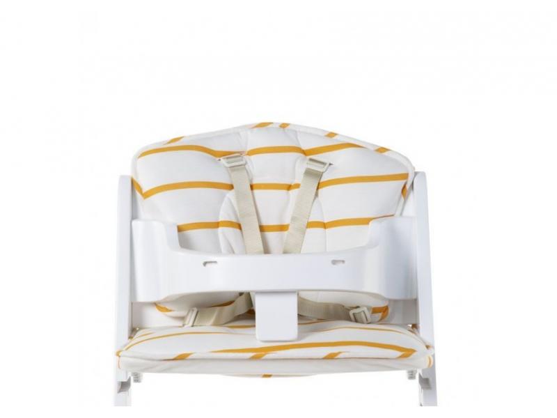 Sedací polštářky do rostoucí židličky Jersey Ochre Stripes