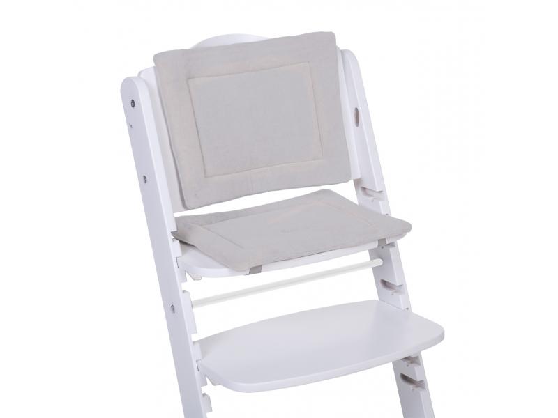 Childhome Sedací polštářky do rostoucí židličky Tricot Pastel Grey