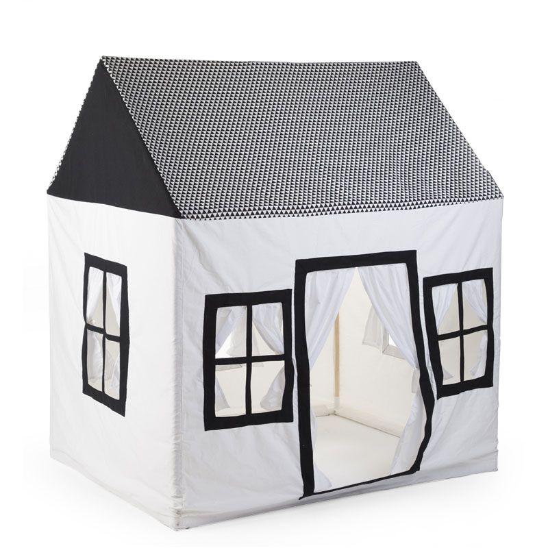 Domček textílny Black&White 125x95x145 cm