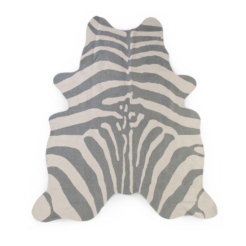 Koberec Zebra šedý 145x160 cm