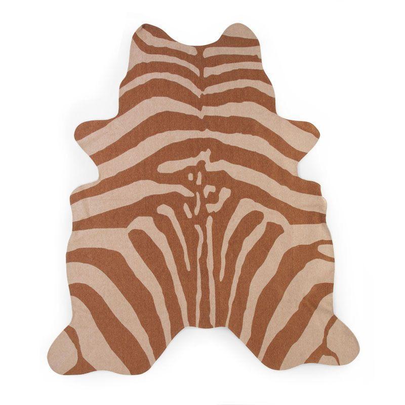 Koberec Zebra hnědý 145x160 cm