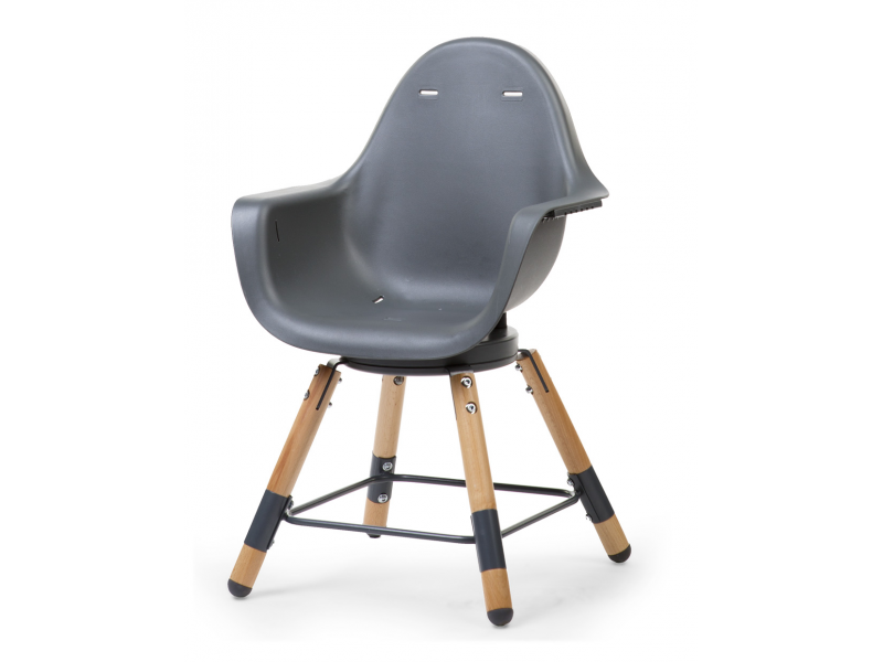 Childhome Židlička 2v1 Evolu ONE.80° Natural / Anthracite