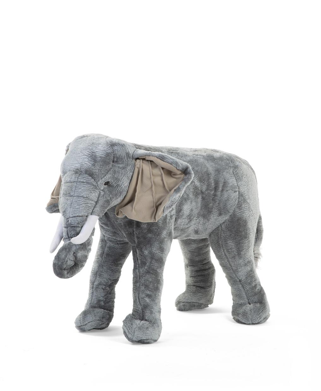 Slon plyšový stojící 60cm