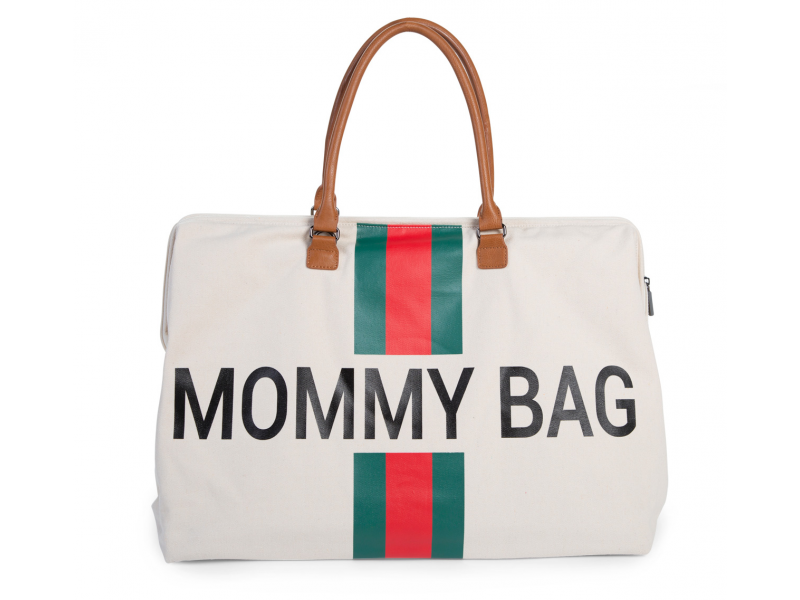 Childhome Prebaľovacia taška Mommy Bag Big Off White / Green Red