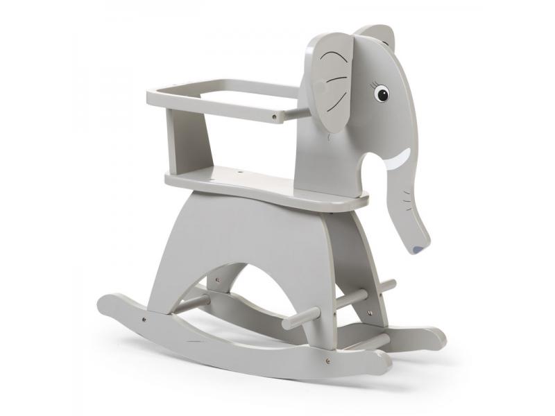 Childhome hojdací slon drevený Grey