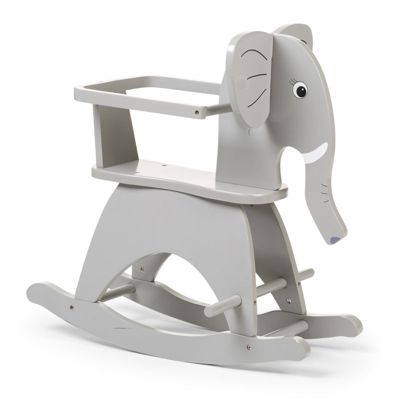 Hojdací slon drevený Grey