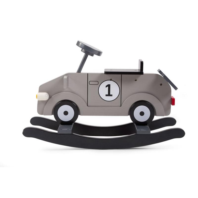 Houpací auto dřevěné Grey