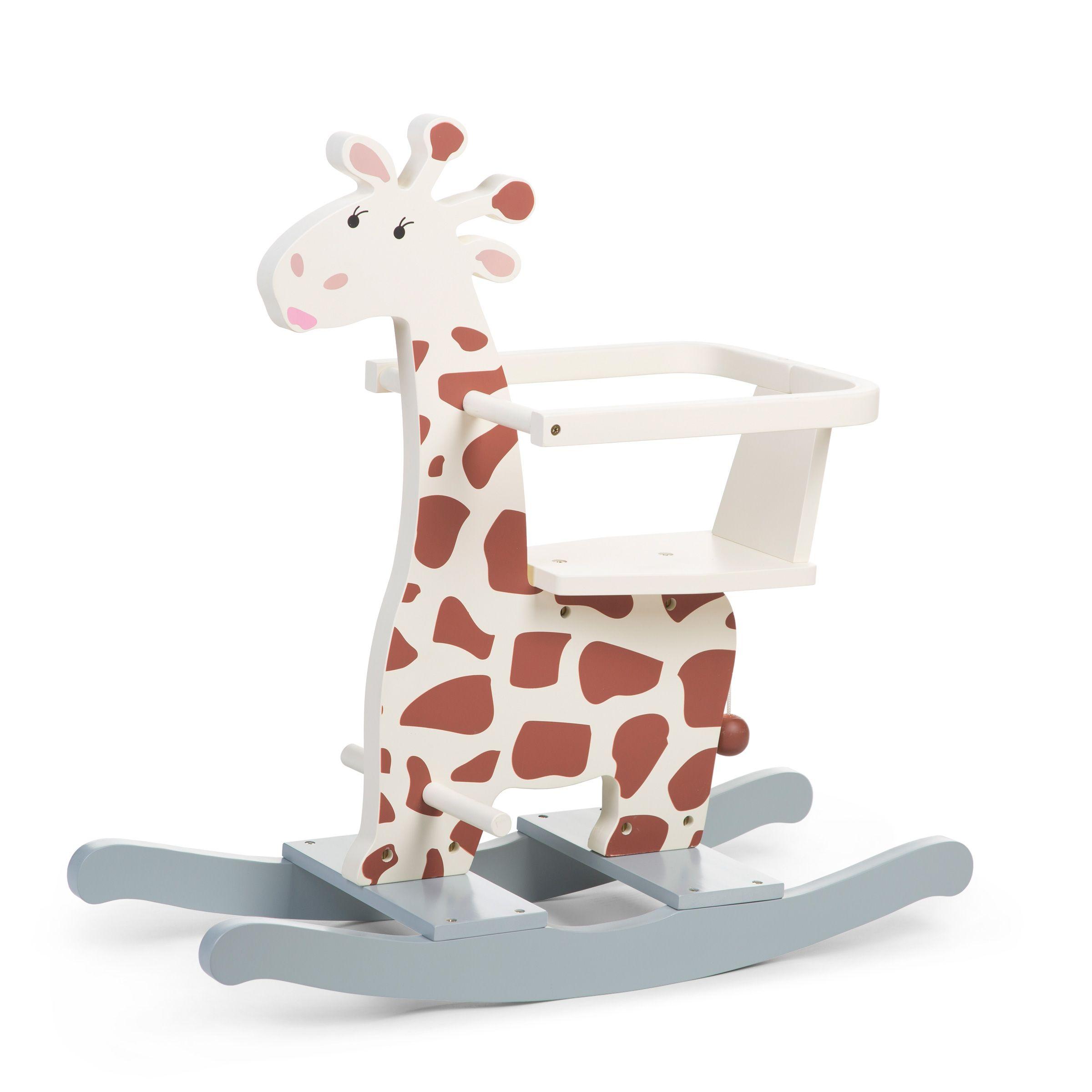 Hojdacia žirafa drevená
