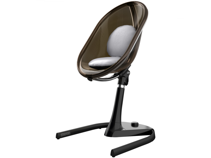 Mima Židlička Moon 2G chrom / černá + opěrka nohou