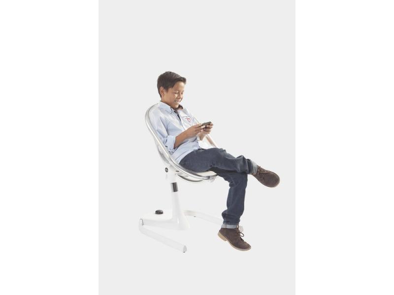 Židlička Moon 2G chrom / černá + opěrka nohou