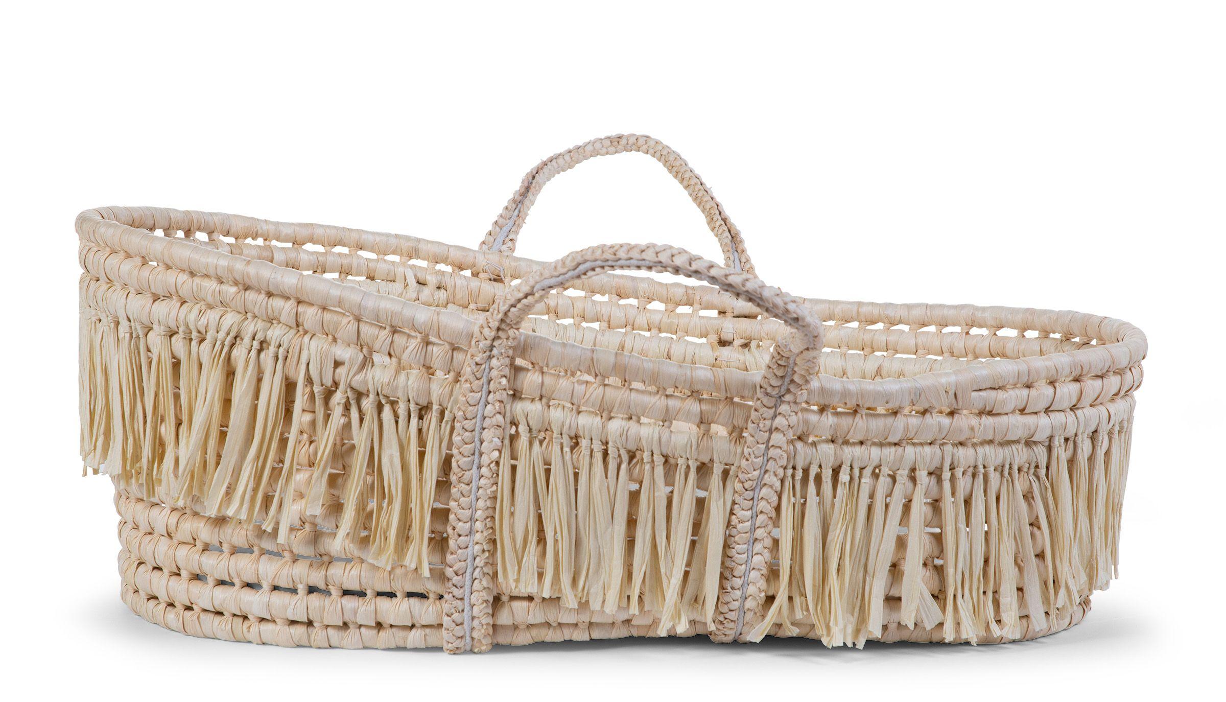 Košík pro miminko Natural Raffia +matrace