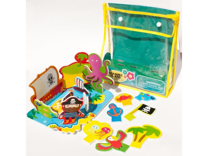 Sada pěnových hraček do vany Ostrov pokladů