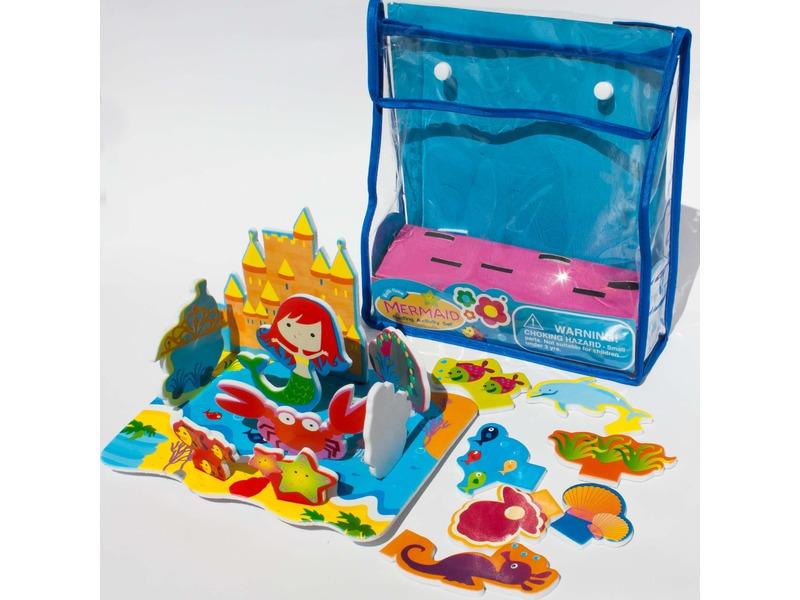 Sada pěnových hraček do vany Mořská panna