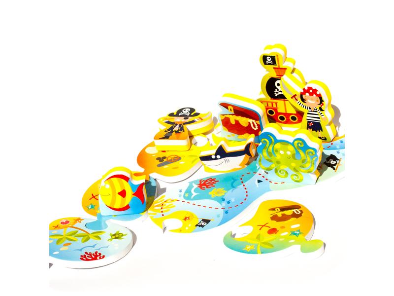 Puzzle do vany / bazénku Ostrov pokladů
