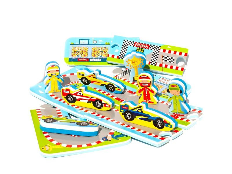 Puzzle do vany / bazénku Automobilový závod