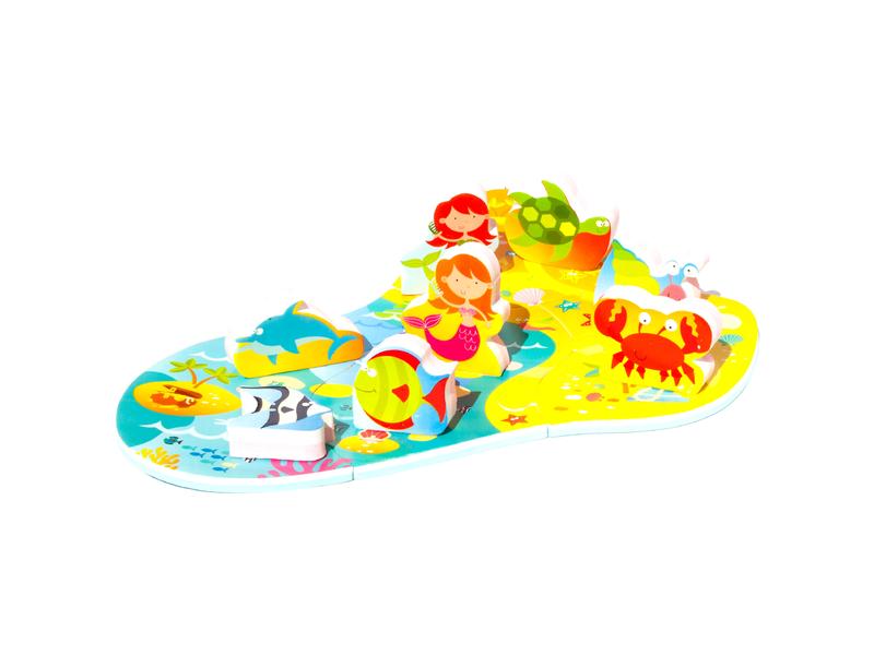 Puzzle do vany / bazénku Mořská panna