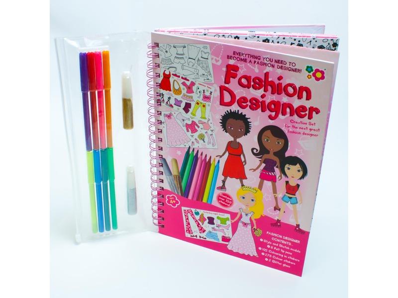 Kreslicí kniha se samolepkami Módní návrhářka