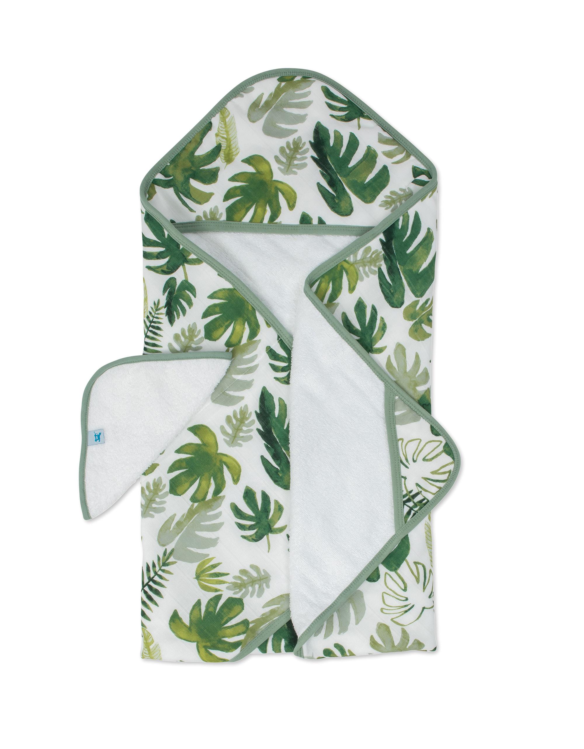 Osuška s kapucňou a žinka Tropical Leaf